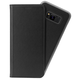 2-in-1 Magnetic Slim Wallet & Case for Samsung Galaxy S8+, Black