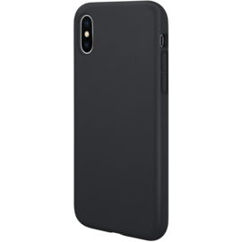 Custodia in silicone gel anti-shock per Apple iPhone X/XS, nero satinato