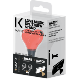Love music splitter n stand, Red