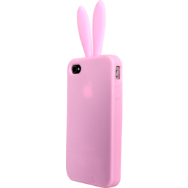 IPhone 4 / 4S, Silicone Pink Rabbit