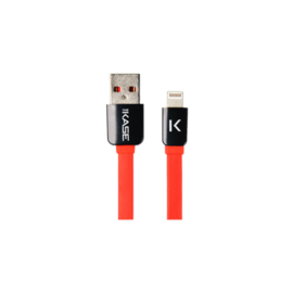 Case Lightning Flat cable to USB (1m), Fiery Red