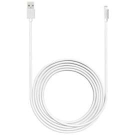Fast Charge 2.4A max Apple MFi certified lightning charge/ sync cable (3M), Bright White