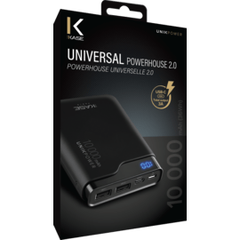 Universal PowerHouse external battery 2.0 10000mAh, Black