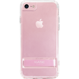 Invisible Slim Case with Stand for Apple iPhone 6/6s/7/8, Rose Gold