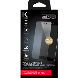 Full Coverage Tempered Glass Screen Protector for Huawei Honor 6C Pro, Transparent