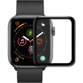 Proteggi schermo in vetro temperato curvo da bordo a bordo per Apple Watch® serie 4/5 44mm