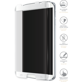 Advanced Curved Edge-to-Edge Tempered Glass Screen Protector for Samsung Galaxy S7 Edge, White