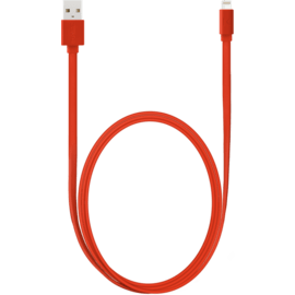 Apple MFi certified Lightning Charge/Sync Cable (1M), Fiery Red