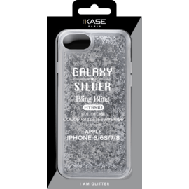 Bling Bling Hybrid Glitter Case for Apple iPhone 6/6S/7/8, Galaxy Silver