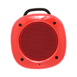 Case Airbeat-10 Haut-parleur portable Bluetooth avec microphone, Rouge