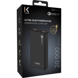 Ultra Slim PowerHouse External Battery 20 000mAh (74Wh), Jet Black