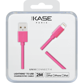Apple MFi certified Lightning Charge/Sync Cable (2M), Hot Pink