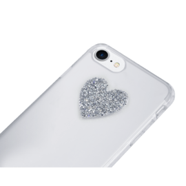 Swarovski® Ultra Fine Rock Crystal Sticker, Sparkling Silver Heart