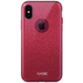 Sparkly Glitter Slim Case for Apple iPhone X, Red