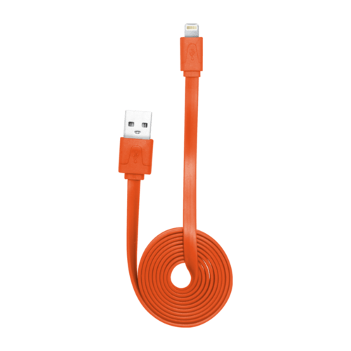 Case Lightning Flat cable to USB (1m), Orange
