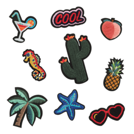 Tropicana Embroidered Stickers