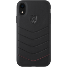Ferrari Quilted Genuine leather case for Apple iPhone XR, Black