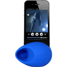 Case Egg Shaped Sound Amplifier for Apple iPhone 6/6s/7/8, Blue
