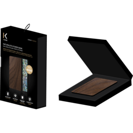 Naturalista Power Bank 6000 mAh, Walnut & Marine Shell