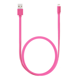 Fast Charge 2.4A max Apple MFi certified lightning charge/ sync cable (1M), Hot pink