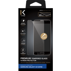 Premium Tempered Glass Screen Protector for Samsung Galaxy A3(2016), Transparent