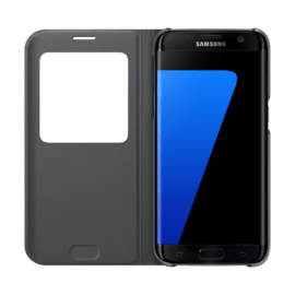 Case S View Cover Noir pour Samsung Galaxy S7 edge
