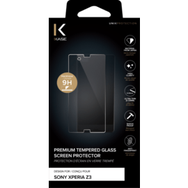 Premium Tempered Glass Screen Protector for Sony Xperia Z3, Transparent