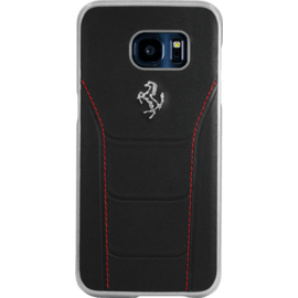 Case Ferrari 488 Genuine leather Case for Samsung Galaxy S7 Edge, Black