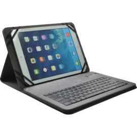 Case AZERTY Universal bluetooth keyboard with flipcase, 9-10 inch, Silver