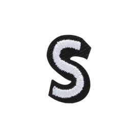 Letter S Embroidered Sticker