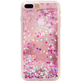 Case Bling Bling Coque Pailletée Hybride pour Apple iPhone 7 Plus/ 8 Plus, Pink Lady