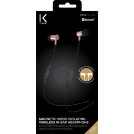 Magnetic Noise-isolating Wireless In-ear Headphone, Rose Gold