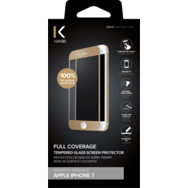 Full Coverage Tempered Glass Screen Protector for Apple iPhone 7, Gold