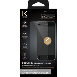 Premium Tempered Glass Screen Protector for Apple iPhone 5/5s/5C/SE, Transparent