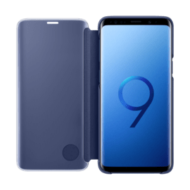 Clear View cover avec fonction Stand Bleu Galaxy S9