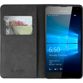 CB Glass Shell con supporto per Microsoft Lumia 650, Black