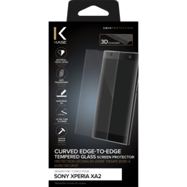 Curved Edge-to-Edge Tempered Glass Screen Protector for Sony Xperia XA2, Transparent