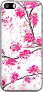 Case Pink cherry blossoms Oriental Sakura watercolor hand painting by Girly Trend