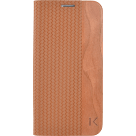 Case Flip case for Samsung Galaxy S6 Edge, Brown & Natural Cherry Wood