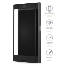 Full Coverage Tempered Glass Screen Protector for Sony Xperia X Compact, Black
