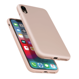 Anti-Shock Soft Gel Silicone Case for Apple iPhone XR, Sandy Pink