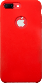 Case Coque en Gel de Silicone Doux pour Apple iPhone 7 Plus, Rouge Ardent