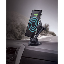 Auto-Sensor Universal Qi Wireless Quick Charging Kit (7.5W/10W), Black