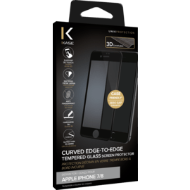 Curved Edge-to-Edge Tempered Glass Screen Protector for Apple iPhone 7/8, Black