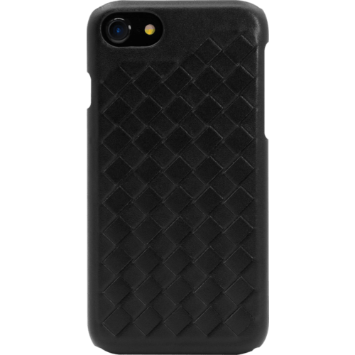 Treccia Genuine Leather Case for Apple iPhone 6/6s/7/8, Satin Black
