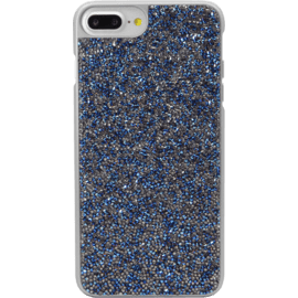 Case Étui en strass Bling pour Apple iPhone 6 Plus / 6s Plus / 7 Plus / 8 Plus, Sapphire Blue & Silver