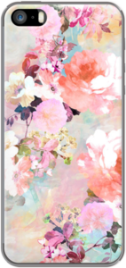 Case Romantic Pink Teal Watercolor Chic Floral Pattern by Girly Trend