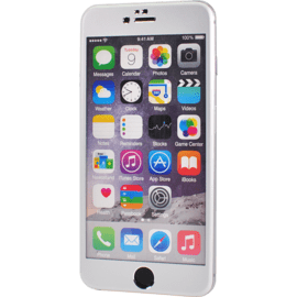 Titanium Alloy Tempered Glass Screen Protector for Apple iPhone 6 Plus/6s Plus, Silver
