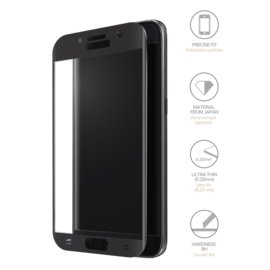 Case Full Coverage Tempered Glass Screen Protector for Samsung Galaxy A3 (2017), Black