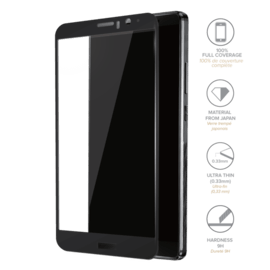 Full Coverage Tempered Glass Screen Protector for Huawei Mate 9, Black